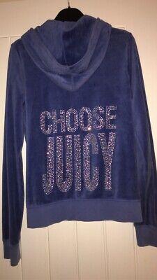 Authentic Blue Juicy Couture Tracksuit Top Size L
