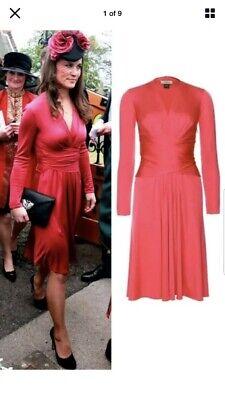 Issa Dark Pink Wrap Dress Size 12 Petite Kate Middleton Engagement
