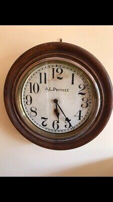 ANTIQUE SESSIONS FOYER WALL CLOCK.