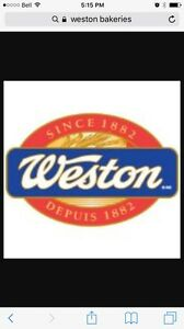 Weston bakeries bread route business for sale