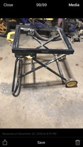 Water saw table
