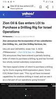 Oil in Isreal great news