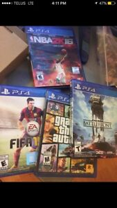 PS4 WITH 2 CONTROLLERS CAMERA AND GAMES