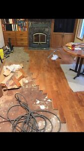 Hardwood, laminated, engineers, vinyl flooring installing  Strathcona County Edmonton Area image 7