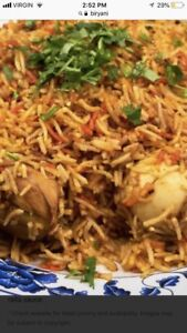 Homemade biryani rice