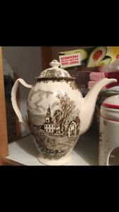 Friendly Village Coffee Pot Sussex Flea Market