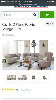 BACK Royale 3 Piece Fabric Lounge Suite