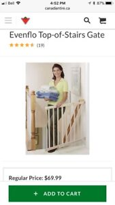 Evenflo Top of Stairs Baby Gate