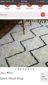 West Elm Souk Wool Rug Exeter Port Adelaide Area Preview