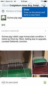 Rabbit/guinea pig cage with trolley Wildwood Hume Area Preview