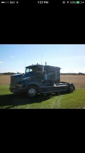 1998 Freightliner FLD112 Truck , 48' Flat Bed Trailer Avail Sep