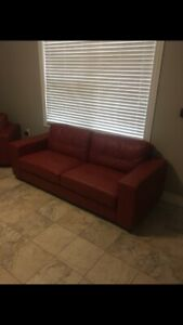 Red Couch set