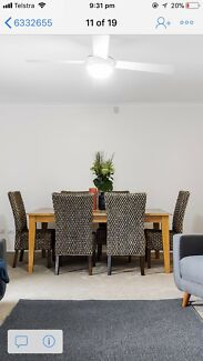 6 wicker dining chairs ( table for sale separately)
