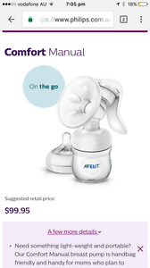Avent manual breast pump Bilgola Pittwater Area Preview