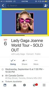AMAZING PRICE FOR 2 TICKETS LADY GAGA JOANNE WORLD TOUR SOLD OUT