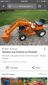 WANTED SMALL TRACTOR WITH LOADER OR MINI SKID STEER FOR CHEEP
