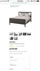 Hemnes Queen Bed and Night Stand