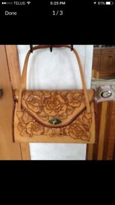 1960's Handmade Saddlebag Purse