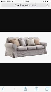 Ektorp 3 seater sofa covers only Marks Point Lake Macquarie Area Preview