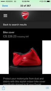 Ducati motorcycle cover (Brand new)