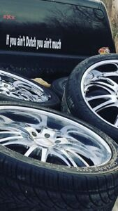 24x10 Boss rims and tires 6x139.7