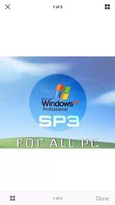 MICROSOFT WINDOWS XP PROFESSIONAL w/SP3 FULL OPERATING SYSTEM IMAGE DISC+KEY