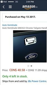 Ford tailgate handle chrome cover