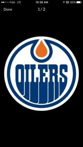 Oilers individual games for 2018-2019 lower bowl w/drink rail