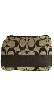 Coach Black And Grey Wristlet