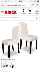 BRAND NEW White Faux Leather Accent Dining Chair