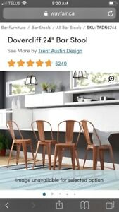 """New in box 24"""" counter height bar stools"""