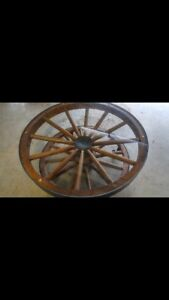 Authentic Wagon Wheel Table