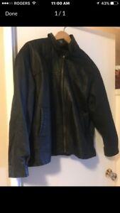 Unisex leather coat