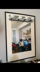 Unique mirror with light bulbs