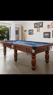 8 x 4 slate pool table $2000