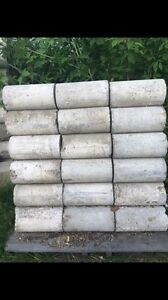 200 concrete cylinders