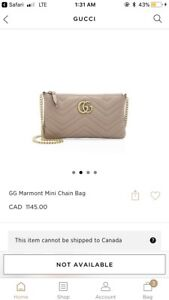 GG gucci marmont chain bag- nude