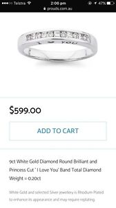 White gold 9ct princess cut diamond ring Sorell Sorell Area Preview