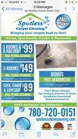 Spotless Steam carpet cleaning call 780-7200151
