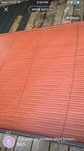 "1"" Aluminum window blinds brown teak colour"
