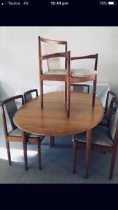 Parker 8 X dining chairs mid century modern retro vintage