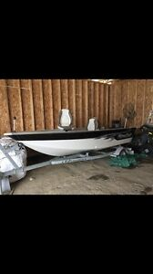 2014 mirrocraft with a big foot 40hp johnson