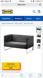 IKEA - KNOPPARP Two-seat sofa, grey Lane Cove North Lane Cove Area Preview