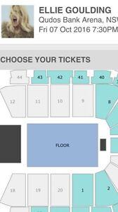 Ellie Goulding Tickets 7/10/16 Woolloomooloo Inner Sydney Preview