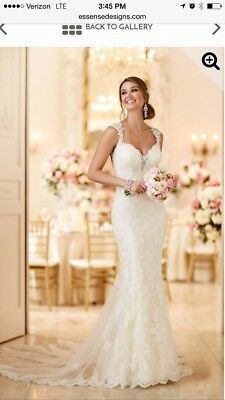 Size 8 Stella York Style 6245 Wedding Dress Open Back & Lace for sale  Shipping to Canada