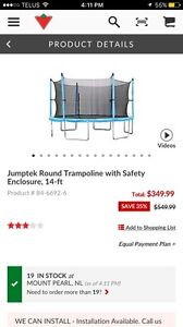 Jumptek 14' trampoline enclosure