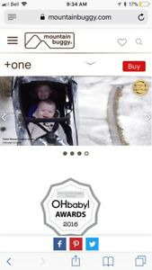 + one mountain buggy double stroller (in line style)