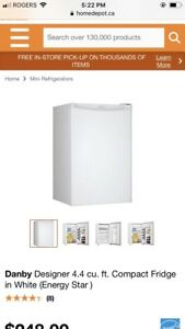 Dansby mini fridge all white