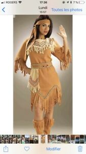 Costume indienne / pocahontas NEUF
