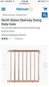 2 Amazing Condition Wooden Stairway Swing Baby Gate